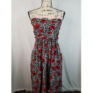 Torrid rose print dress